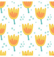 seamless cute yellow tulip pattern for kids vector image
