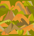 seamless pattern with mountain icons in flat style vector image