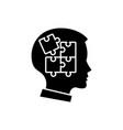 self-discipline black icon sign on vector image vector image