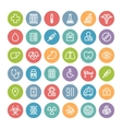 set flat round medical icons vector image vector image