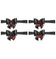 set of black bows with horizontal ribbons and vector image vector image