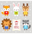 set of cartoon animals vector image vector image