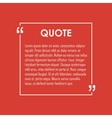 Square quote text bubble vector image