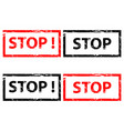 stamp stop - set vector image
