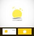 Sun tourism logo vector image