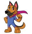 super dog mascot vector image