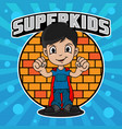 superhero kids design vector image