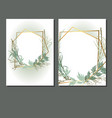 template design cards with grass wedding vector image