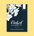 thai flowers poster design vector image vector image
