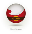 the beard of santa claus icon vector image vector image