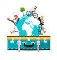travelling around the world travel concept with vector image vector image