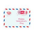 valentine letter in envelope vector image vector image