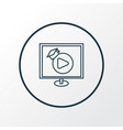video lesson icon line symbol premium quality vector image