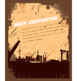 Vintage Grunge under construction retro background vector image
