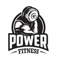 vintage monochrome sport and fitness logo vector image