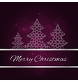Violet christmas card vector image vector image