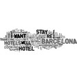 which hotels you should stay in in spain text vector image vector image