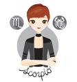Woman With Scorpio Zodiac Sign vector image
