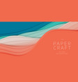 3d abstract background with paper cut shape vector image