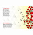 abstract geometric red and white background vector image
