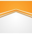 Abstract tech corporate orange background vector image vector image