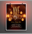 attractive new year party flyer in golden theme vector image vector image