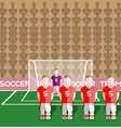 Austria Soccer Club Penalty on a Stadium vector image vector image