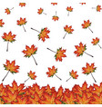 autumn backgrounds with watercolor orange yellow vector image
