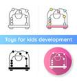 bead maze toy icon vector image