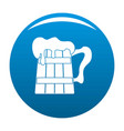 big beer mug icon blue vector image