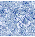 blue floral pattern vector image vector image