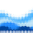 blue halftone wave background vector image