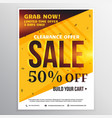 bright colors sale banner poster design template vector image vector image