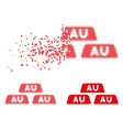 broken pixel halftone gold bullions icon vector image