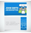 Business card print template vector image vector image