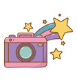 camera and shooting star vector image