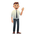 cartoon character beautiful young man smiling vector image vector image
