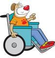 Cartoon Dog in a Wheelchair vector image vector image