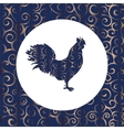 Cock silhouette pattern bird background vector image vector image