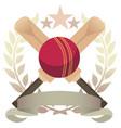 cricket emblem vector image