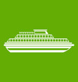 cruise ship icon green vector image vector image
