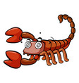 dizzy scorpion on white background vector image vector image