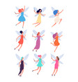 fairies cute magic fairy tale girls costume vector image