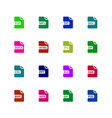 file format type icons download document vector image