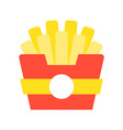 french fries food and gastronomy set flat icon vector image vector image