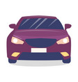 front view purple modern car with turned on vector image
