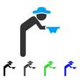 Gentleman beggar flat icon vector image