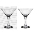 Glasses3 3 2 martini vector image vector image