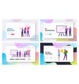 happy businesspeople team financial success vector image vector image