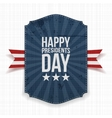 Happy Presidents Day blue Banner with Ribbon vector image vector image